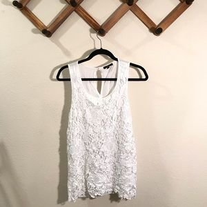 Cupio | Like new white crochet tank sz med…